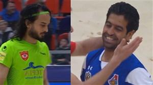 سوپر گل بهزادپور به پیمان حسینی در دیدار فوتبال ساحلی