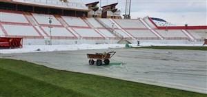 ورزشگاه یادگار امام آماده مسابقه سایپا و تراکتور