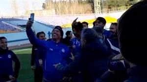 جشن پیروزی بازیکنان استقلال در دربی امیدها
