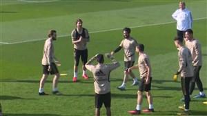تمرین جالب بازیکنان رئال مادرید قبل از دیدار با سلتاویگو