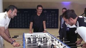 رقابت جالب دل پیرو و لوئیس فیگو در فوتبال دستی