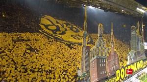 طرح فوق العاده هواداران دورتموند در دیدار با فرانکفورت