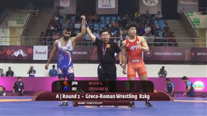 پیروزی ابراهیمی برابر حریف ژاپنی در وزن 82کیلوگرم