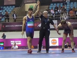 پیروزی کاویانی نژاد در مرحله نیمه نهایی وزن72 کیلوگرم