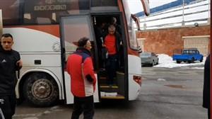 ورود دو تیم تراکتور و مس کرمان به ورزشگاه یادگار