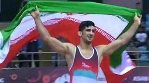 کسب مدال طلا توسط کاویانی نژاد در وزن 72 کیلوگرم