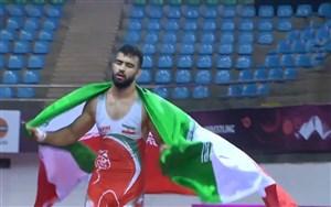 کسب مدال طلا توسط مهدی ابراهیمی در وزن82کیلوگرم
