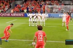 لحظات خنده دار در بازی FIFA در ضربات ایستگاهی
