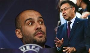 """پپ خطاب به رئیس بارسلونا؛ """"زیاد بلند صحبت نکن!"""""""