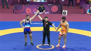 کسب مدال طلا مجتبی گلیج در وزن 97کیلوگرم