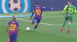 دبل مسی؛ گل دوم بارسلونا به ایبار
