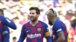 هتریک مسی؛ گل سوم بارسلونا به ایبار