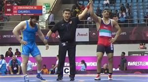 پیروزی جواد ابراهیمی برابر حریف قزاقزستانی