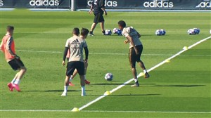 تمرینات رئال مادرید برای دیدار با منچسترسیتی