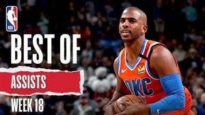 برترین پاسهای هفته هجدهم بسکتبال NBA