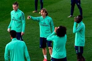 تمرینات رئال مادرید قبل از تقابل با منچسترسیتی