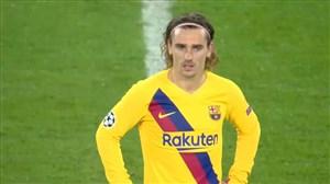 گل اول بارسلونا به ناپولی (گریزمان)