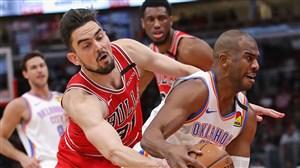خلاصه بسکتبال اوکلاهماسیتی - شیکاگو بولز