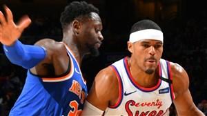 خلاصه بسکتبال فیلادلفیا - نیویورک نیکس