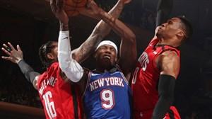 خلاصه بسکتبال هیوستون راکتس - نیویورک نیکس