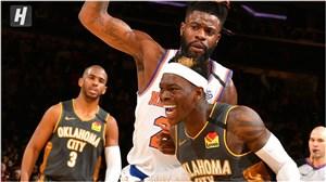 خلاصه بسکتبال نیویورک نیکس - اوکلاهما سیتی