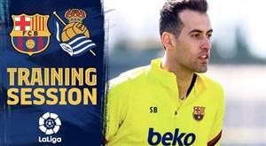 تمرینات بارسلونا برای آماده سازی دیدار با سوسیداد