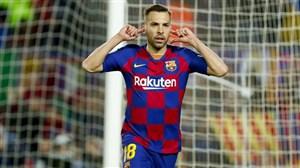 گل اول بارسلونا به رئال سوسیداد توسط جوردی آلبا