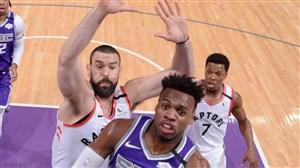 خلاصه بسکتبال تورنتو رپترز - ساکرامنتو کینگز