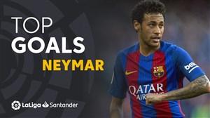 10 گل برتر نیمار با پیراهن بارسلونا در لالیگا
