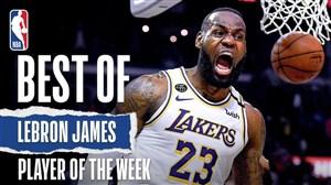 لبران جیمز بهترین بازیکن هفته بیستم NBA