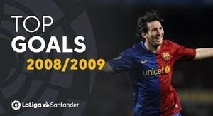 برترین گلهای لالیگا در فصل 2009 - 2008