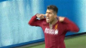گل دوم لیورپول به اتلتیکو مادرید (فیرمینو)