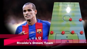 تیم منتخب ریوالدو ستاره برزیلی سابق بارسلونا
