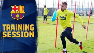سرعت در تمرینات تیم بارسلونا