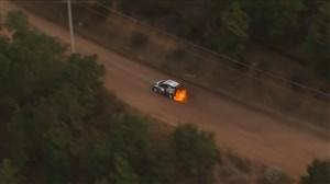 آتش گرفتن ماشین در رالی مکزیک 2020