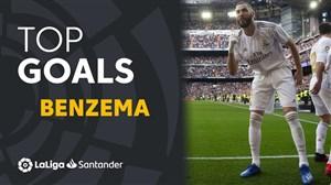 10  گل برتر کریم بنزما مهاجم رئال مادرید در لالیگا