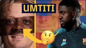 چالش تشخیص چهره بازیکنان بارسا با اومتیتی
