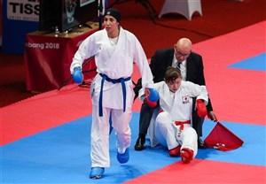 بانوی المپیکی کاراته در راه بازگشت به تهران