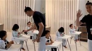 آموزش بهداشت کریستیانو رونالدو به فرزندانش