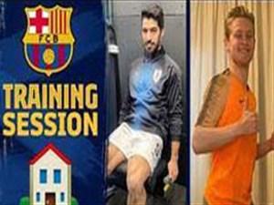 تمرینات تیم بارسلونا زیر سایه ویروس کرونا
