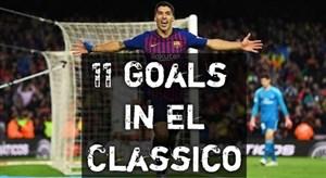 تمام 11 گل لوئیس سوارز به رئال مادرید