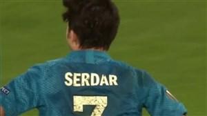 سردار آزمون بهترین زننده گل با ضربه سر در فوتبال اروپا
