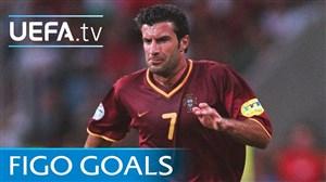 پنج گل فوق العاده از لوئیس فیگو در مسابقات اروپایی