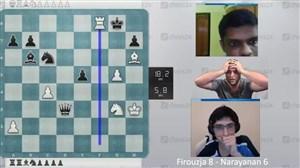 گزارش پرحرارت شطرنج با برد فیروزجا مقابل حریف هندی