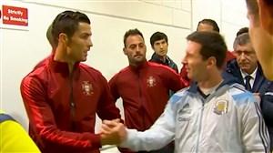 تقابل کریستیانو رونالدو و لیونل مسی در بازی ملی