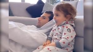 کشمکش جالب آنتونیو کاندروا بازیکن اینتر با فرزندش