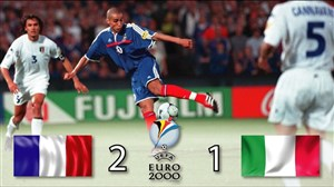 بازی خاطره انگیز فرانسه - ایتالیا در فینال یورو 2000