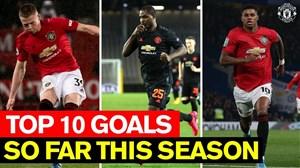 10 گل فوق العاده و زیبا از منچستریونایتد 20-2019
