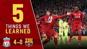 کامبک رویایی لیورپول برابر بارسلونا در آنفیلد
