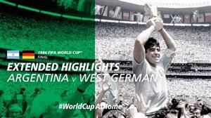 فینال جام جهانی 1986 و قهرمانی آرژانتین با مارادونا